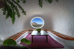 En Haria de Rio Isla de la Graciosa de del de Mirador photographie stock