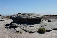 En haut du massif de roche de maman, secteur maximal, Derbyshire Photographie stock