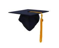 En hederavläggande av examenhatt Arkivbild