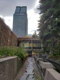 En hemlig trädgård i Montreal arkivbild