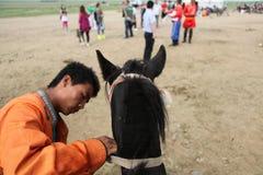 en herde och hans häst Royaltyfri Bild