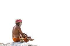 En hinduiska Sadhu på Kumbhaen Mela, Indien royaltyfri bild