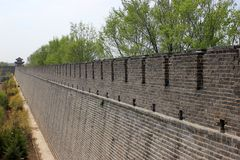En historia i väggen av Kina royaltyfria foton