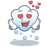 En historieta del carácter de la nube de la nieve del amor Foto de archivo libre de regalías