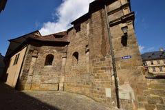 En historisk byggnad i Bamberg, Tyskland royaltyfri bild