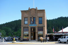 En historisk byggnad i South Dakota royaltyfri bild