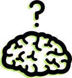 En hjärna Stock Illustrationer