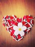 En hjärta som göras av hjärtor Arkivbild