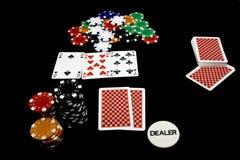En holdem del póker del juego Imágenes de archivo libres de regalías