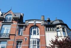 En horisont i gamla Liege, Belgien Arkivfoto