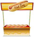 En hotdogställning Arkivfoto
