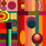En hypnotisk geometrisk poesi som är härlig och royaltyfri illustrationer