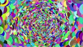 En hypnotisk spiral animeringabstrakt begreppbakgrund med den härliga/färgrika sfären stock illustrationer