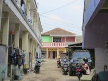 En by i Tangerang arkivbild