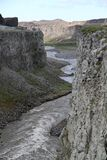 En icelandic kanjon arkivfoton