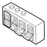 420 en icono análogo del reloj del tirón, estilo del esquema libre illustration