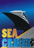 Havskryssning vektor illustrationer
