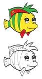 Gullig fisk Arkivfoto