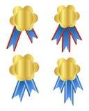 Guldmedalj royaltyfri illustrationer