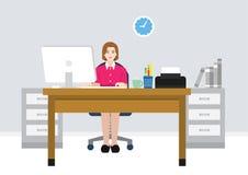 En illustration av den kvinnliga arbetaren Royaltyfri Fotografi