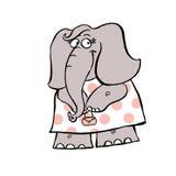 En illustration av en gullig elefantflicka vektor illustrationer