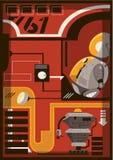 En illustration av en robot Vektor Illustrationer