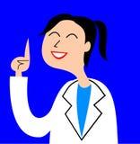 En illustration av en vänlig sjuksköterska som ger klok rådgivning vektor illustrationer