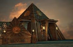 Pyramider vektor illustrationer