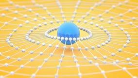 En illustration för samling för atom för spindelrengöringsduk, tolkning 3D Fotografering för Bildbyråer