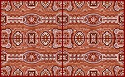 En illustration som baseras på aboriginal, utformar av pricker målningdepicti Royaltyfri Fotografi