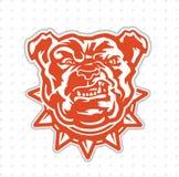 Bulldoggsportmaskot royaltyfri illustrationer