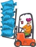 En indisk arbetare i turban stock illustrationer