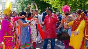 En indisk festival i Moskva arkivfoton