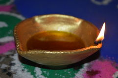 En indisk traditionell lampa Arkivbilder