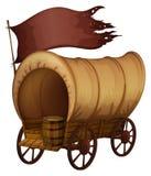 En infödd vagn vektor illustrationer