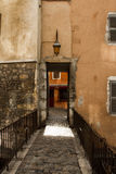 En ingång i Annecy Arkivfoton