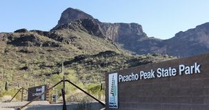 En ingång till den Picacho maximumdelstatsparken, Arizona Royaltyfria Foton