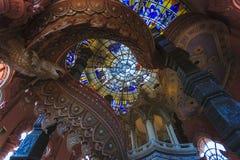 En interior av det erawan museet Royaltyfri Bild