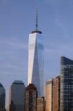 En internationell handel som glöder på solnedgången NYC Tom Wurl Arkivbilder