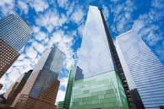 En internationell handelmitt i New York, USA Royaltyfria Foton