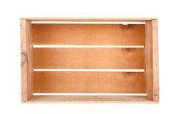 En isolerad enkel träspjällåda Royaltyfri Fotografi