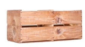 En isolerad lång träspjällåda vektor illustrationer