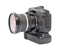 En isolerad svart kamera Arkivfoto