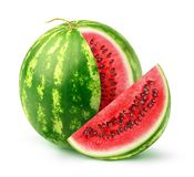 En isolerad vattenmelon Arkivbild