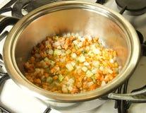 En italiensk tomatsås för matlagning Royaltyfri Fotografi