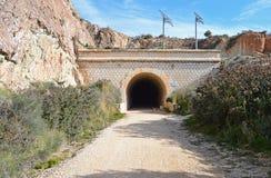 En järnväg tunnel Royaltyfri Bild