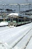 En järnvägsstation i en Japan stad Royaltyfri Foto