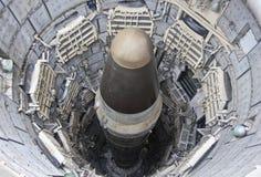 En jätte II ICBM i dess silo Arkivbilder