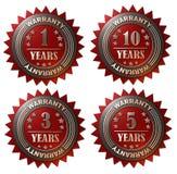 1, 3, 5 en 10 jaar Garantie stock illustratie