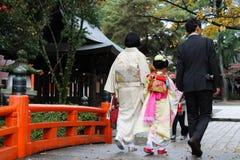 En japansk familj Fotografering för Bildbyråer